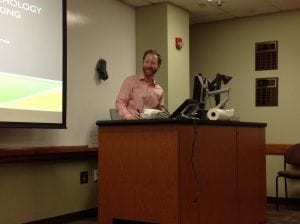 Pictures from the March 2016 Speaker Series presentation by Dr. Ryan Duffy on The Psychology of Working Theory
